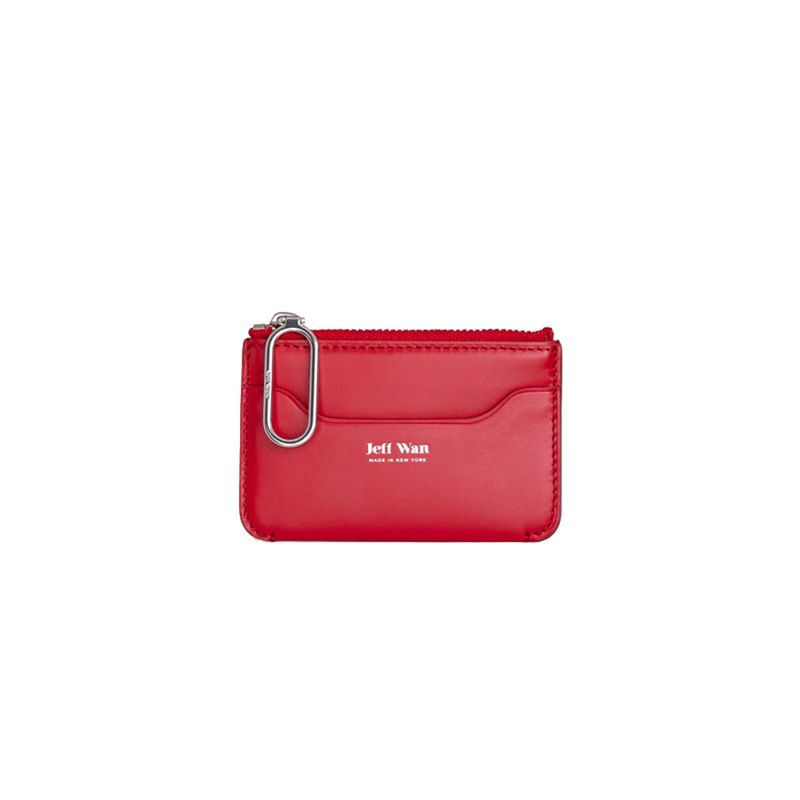 Jeff Wan Zip Coin Pouch Red Port Louis image