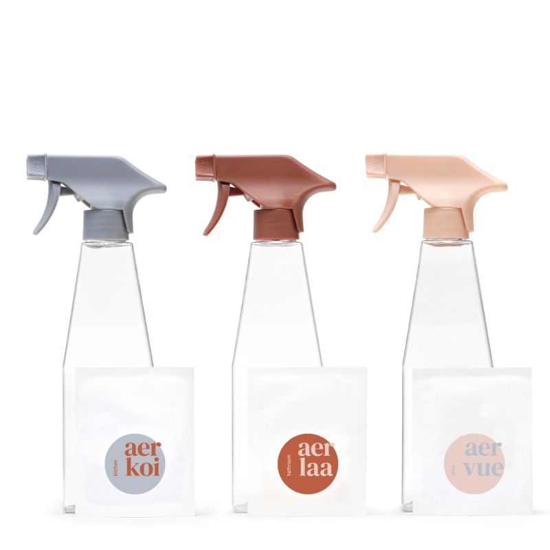 Kitchen, Bathroom, and Glass Cleaner Trio - Starter Set image