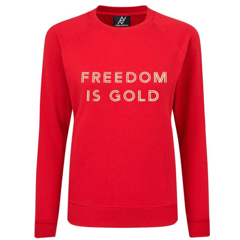 FREEDOM IS GOLD Red Sweatshirt image