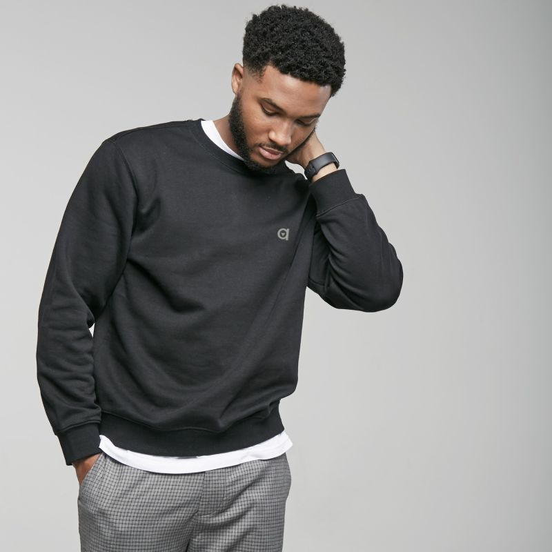 Black Crew Neck Sweatshirt image