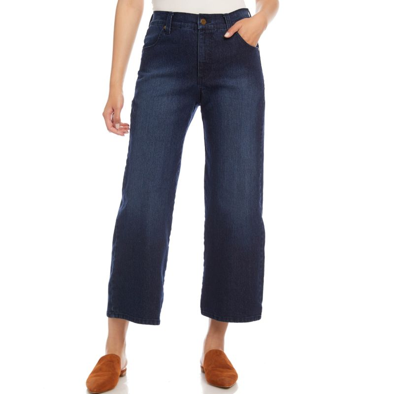 Cropped Wide-Leg Jeans image