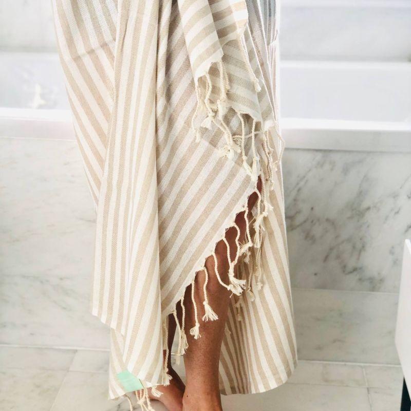 Ecru Candy Stripe Hammam Towel image