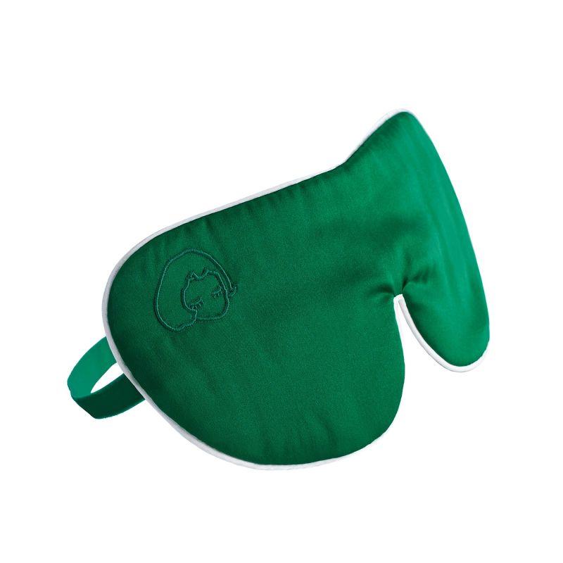 Silk Eyeshade For Sleeping - Green image