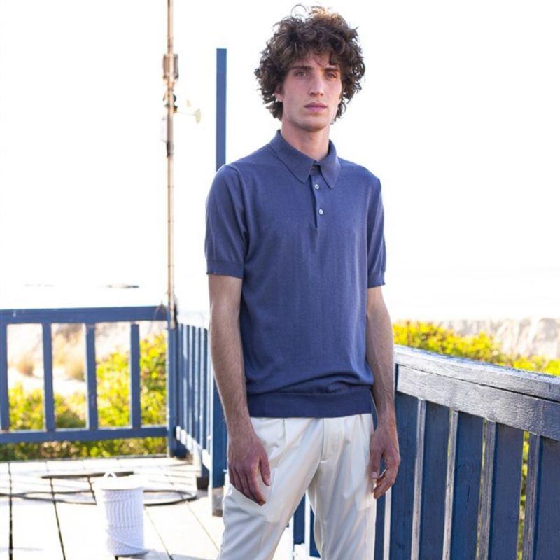 Organic Cotton and Silk Polo T-Shirt image