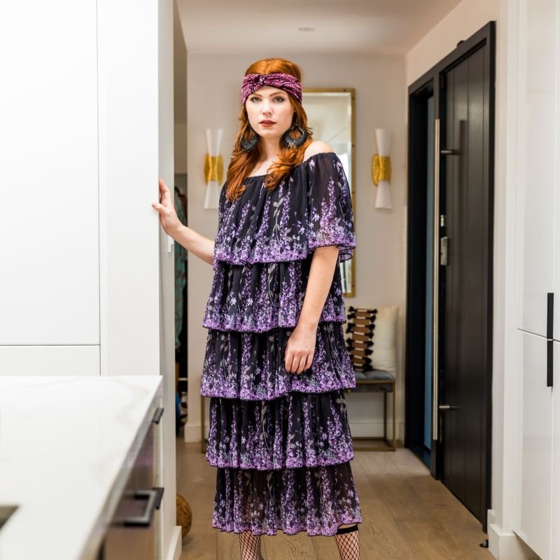 Midnight Fleur Ruffle Dress image