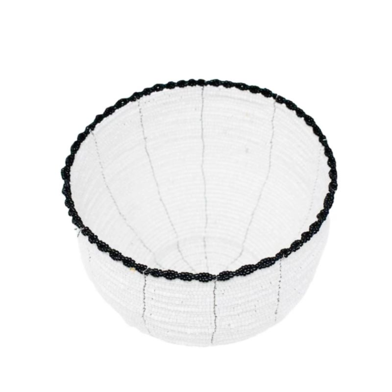 Beaded Bali Bowl - White image