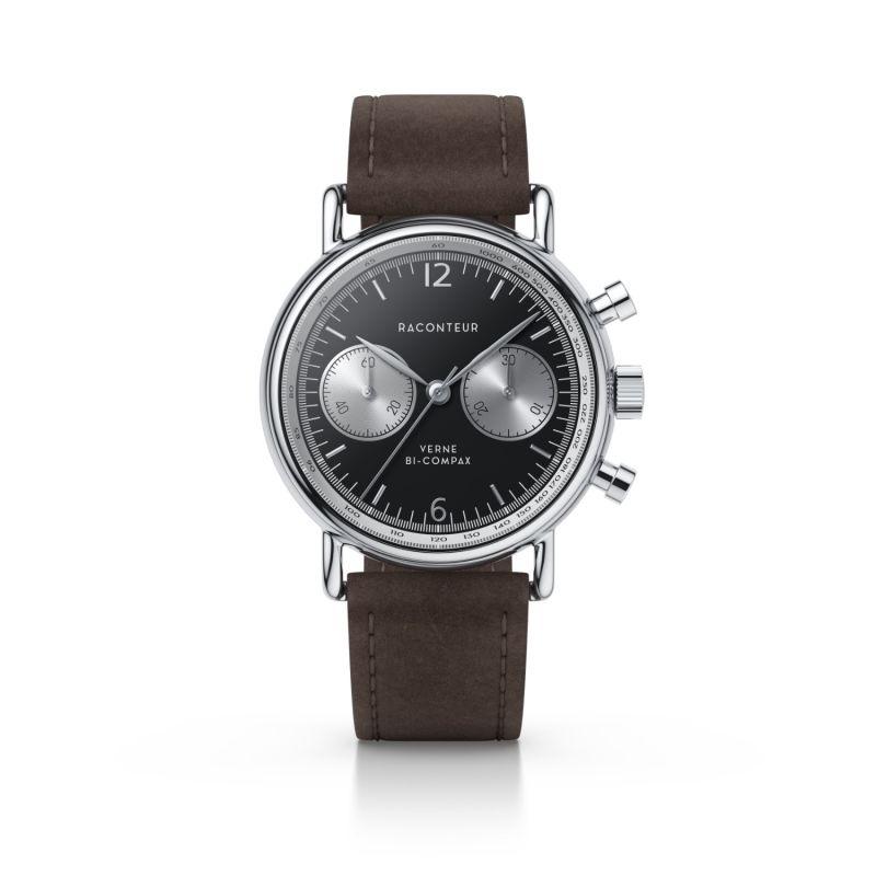 Verne Bi-Compax Silver Black - Chocolate Suede image