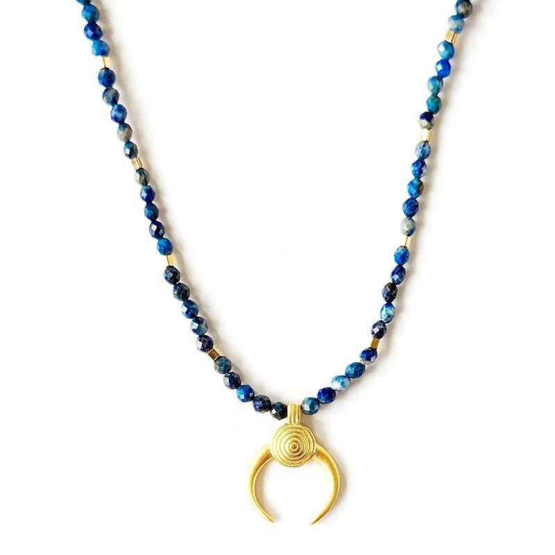 Lapis Lazuli Moon Necklace image