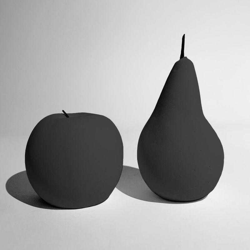 Ornamental Concrete Fruit Mystery Black, Set Of 2 image