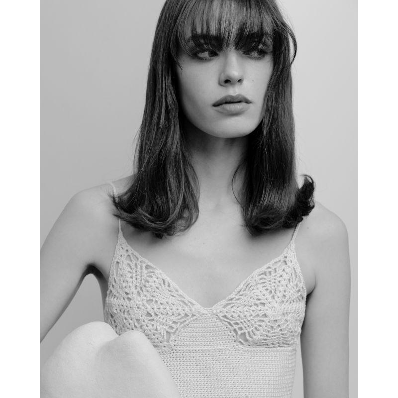 Crochet Bra Top - Milk image