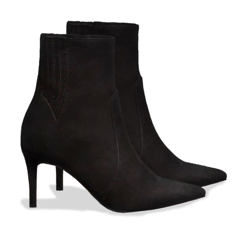 Timeless Black Suede Ankle Boots image