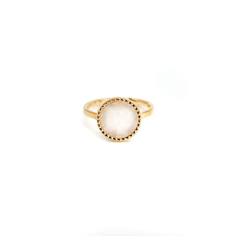 Raya Rainbow Moonstone Gold Ring image