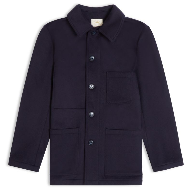 Wool Workwear Jacket - Dark Navy image