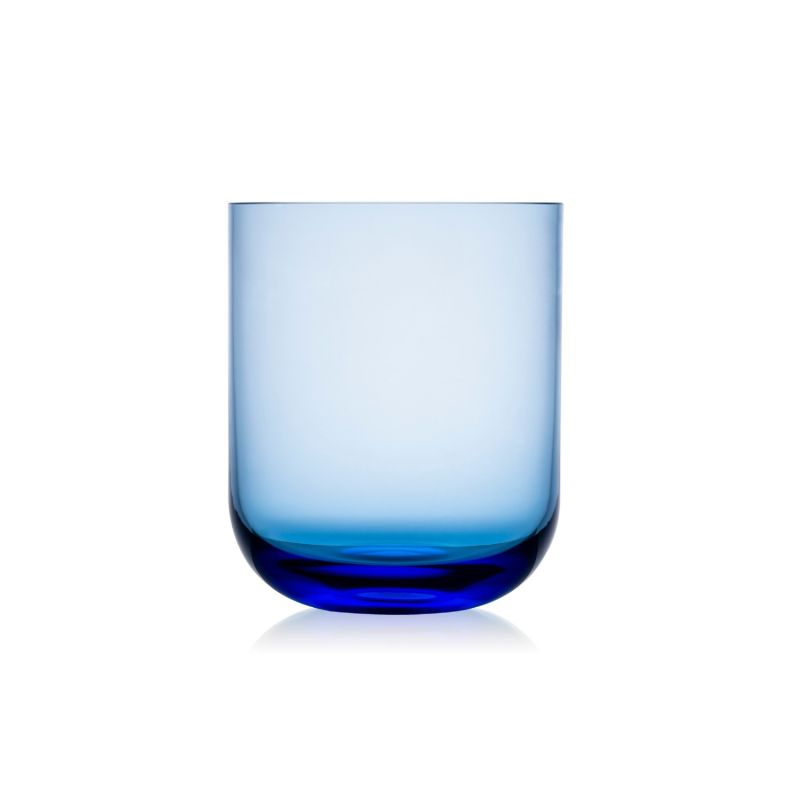 Six Crystal Tumblers in Blue image