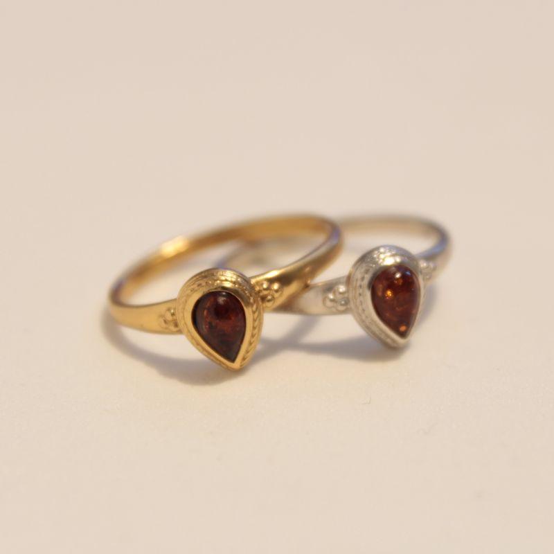 Roman Amber Pear Ring image