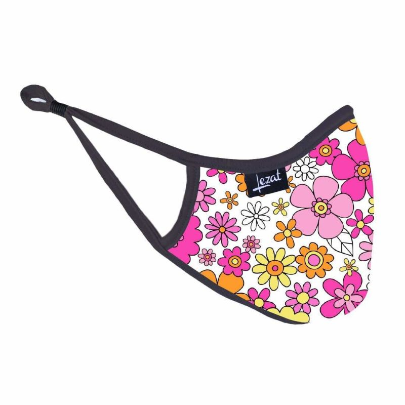 Groovy Flower Power Face Mask image