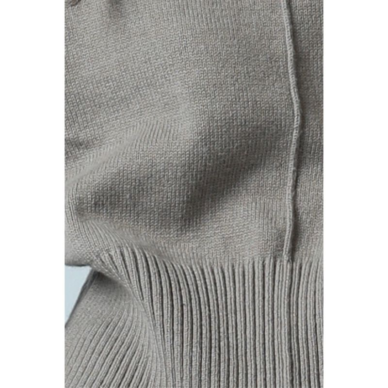 Rhine Cotton-Wool Blend Cropped Turtleneck Knit - Neutrals image