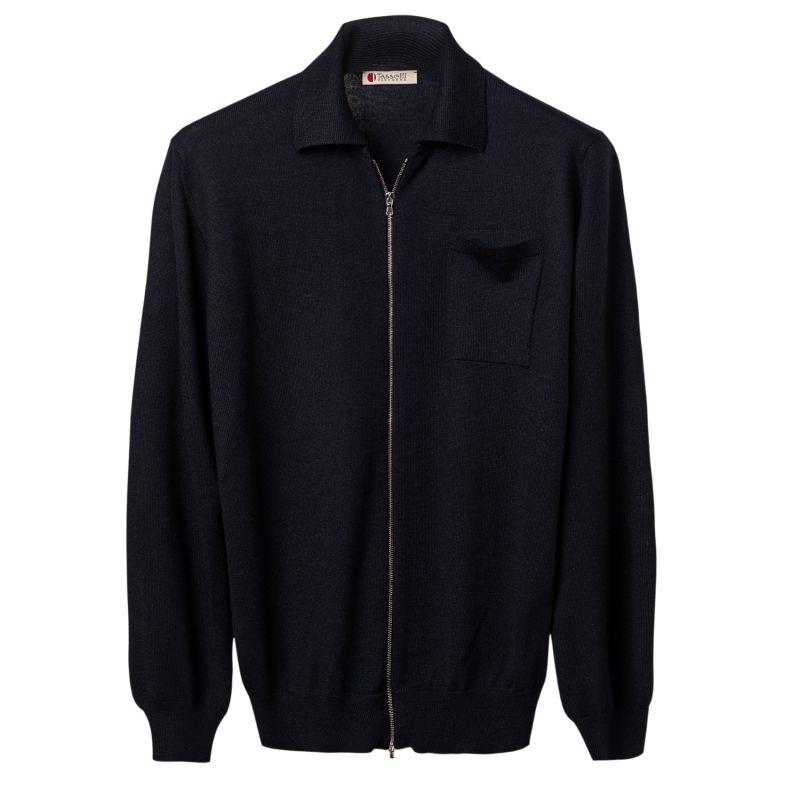 Merino Seta Cashmere Zipper Jacket image