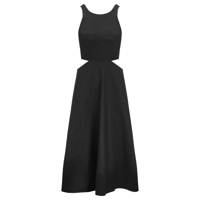 Audrey Black Linen Dress image