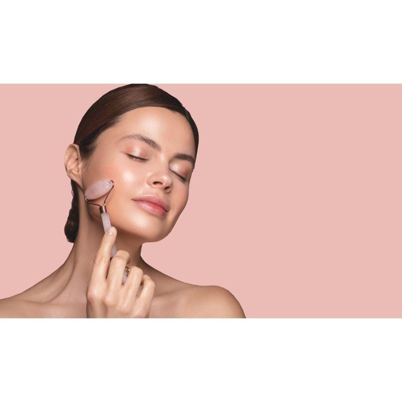 LOOkX Rose Quartz Face Roller image