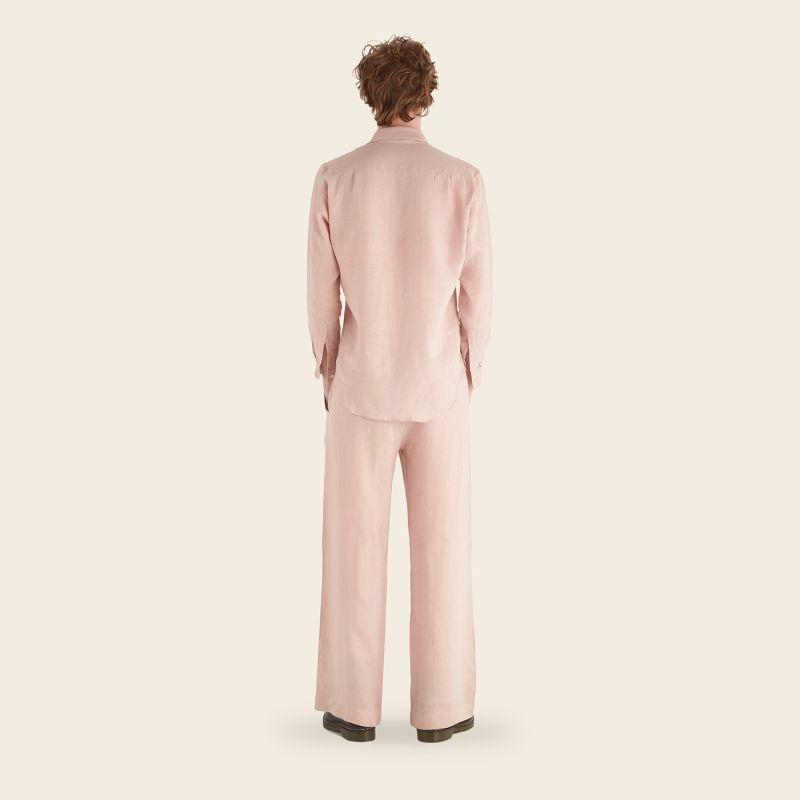 Mens Flannel Blush Linen Shirt image