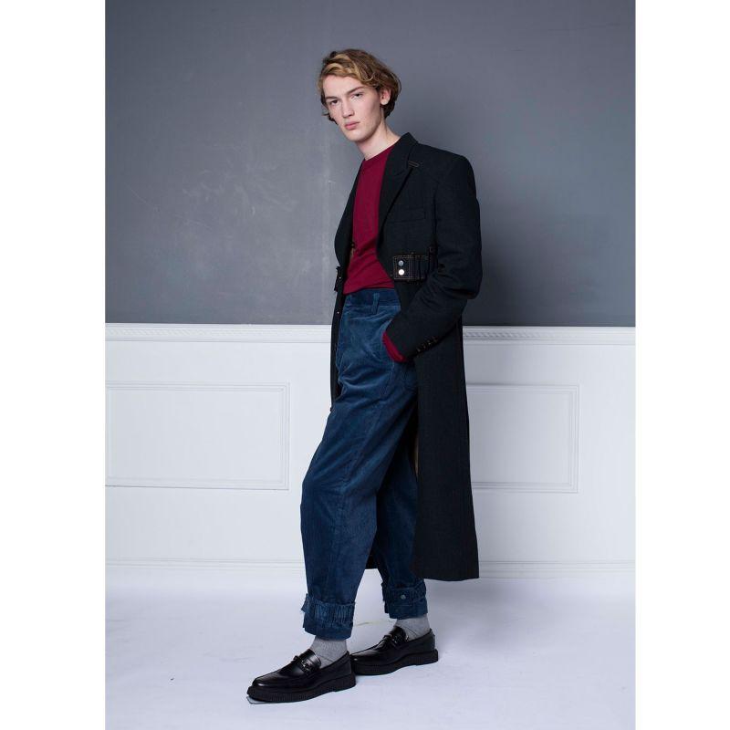 Blue Cord Hem Strap Trousers image
