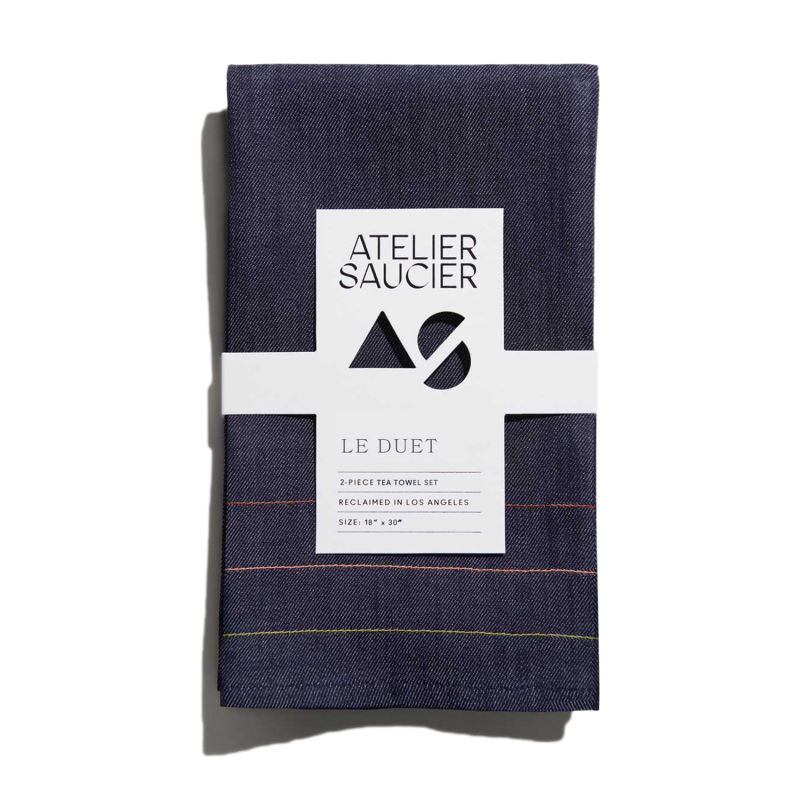 Denim Jewel Tea Towel Set Of 2 image