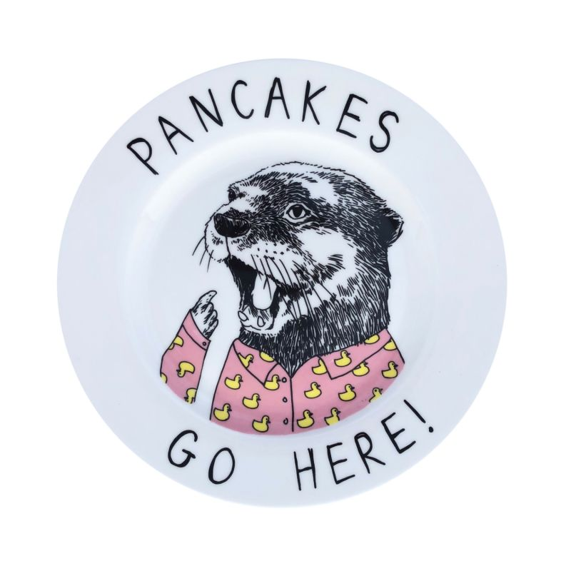 Pancakes Go Here Side Plate image