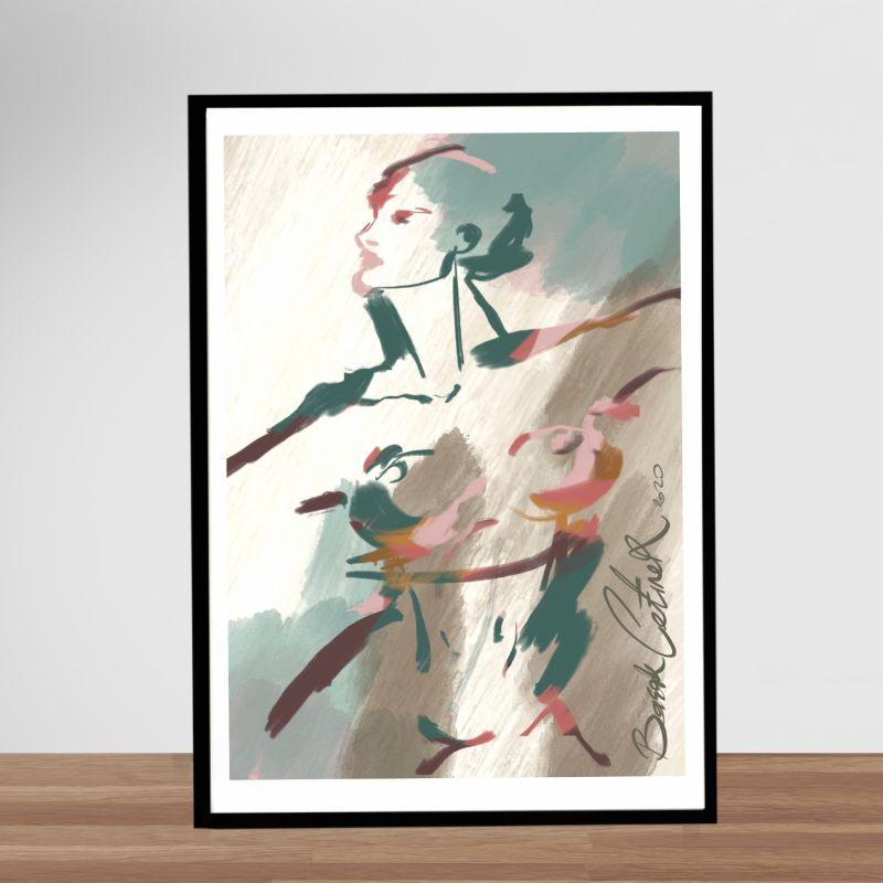 Pastel Acting II Giclée Art Print 42X59 image