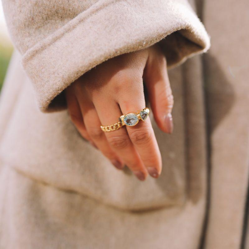 Blue Topaz Georgie Anne Ring In Gold image