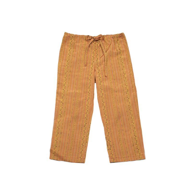 Casual Drawstring Pants - Orange Burst image