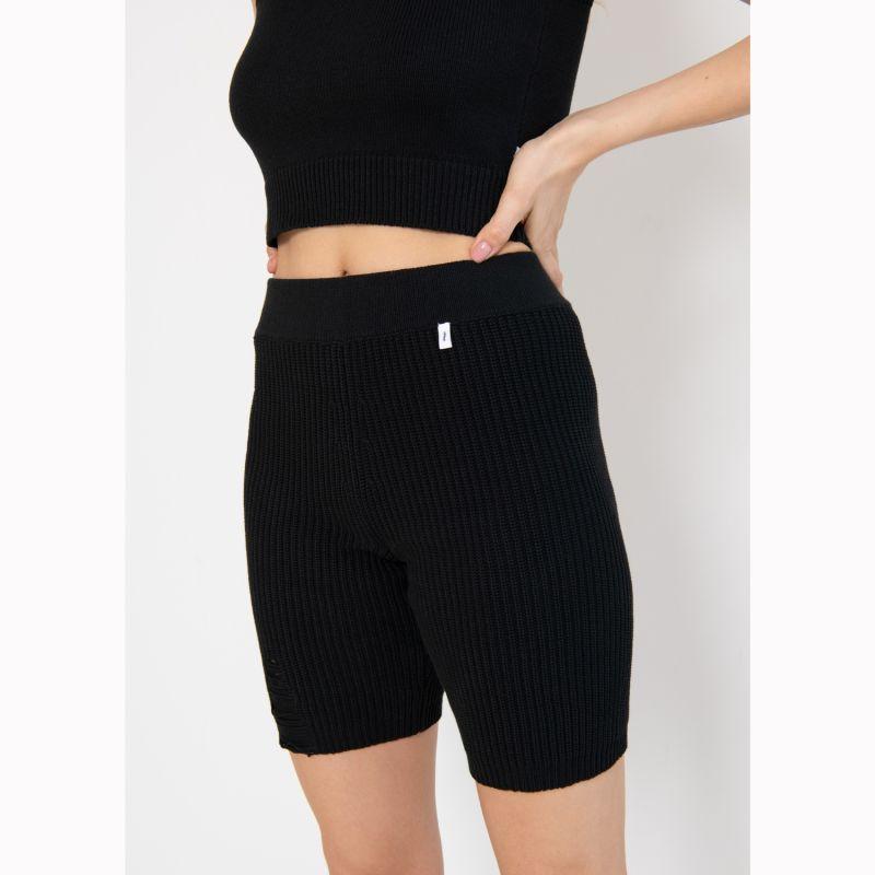 Ribbed Cycling Shorts Black image