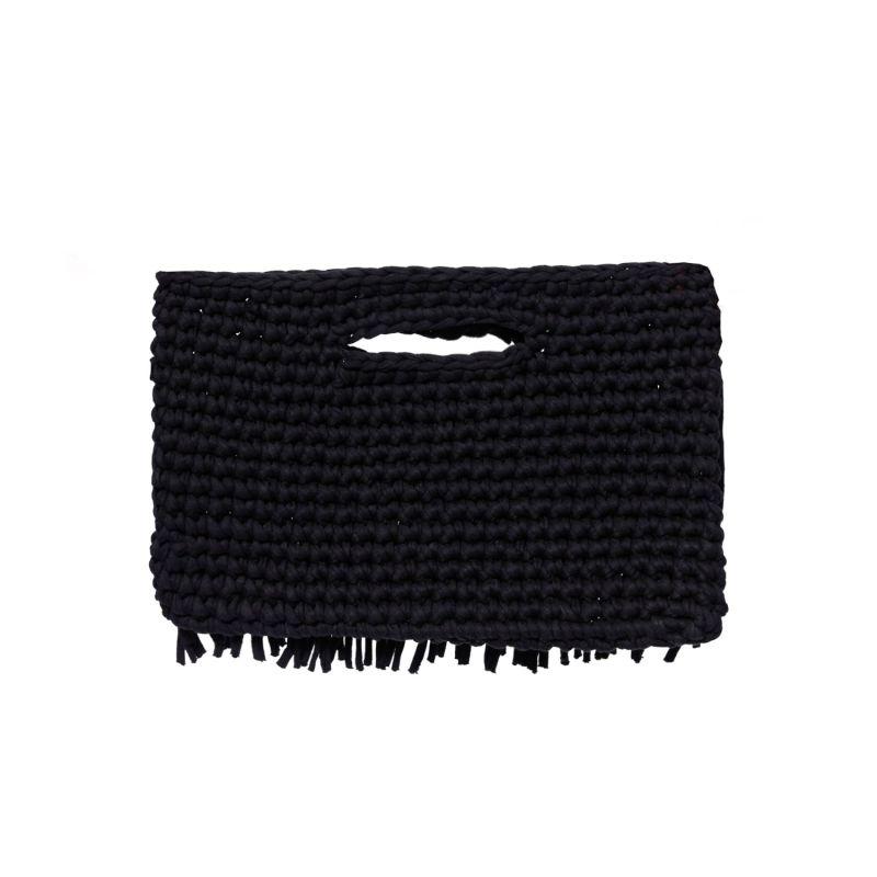 Ios Fringe Clutch In Black image