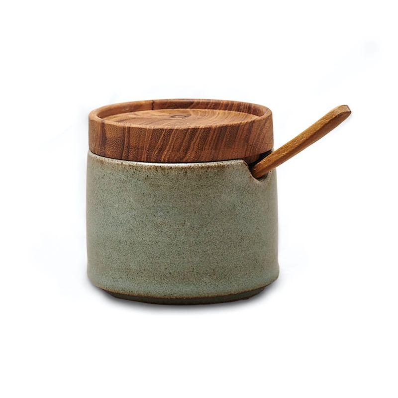 Ayu Ceramic Sugar Bowl - Dove Green image