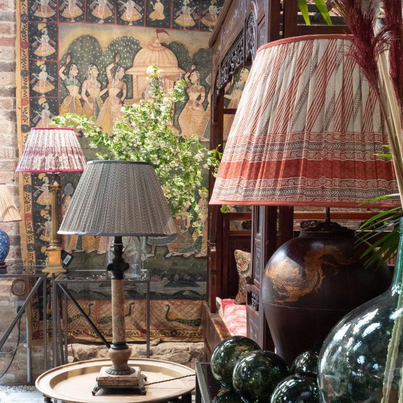 A Chinese Baluster Vase Lamp image