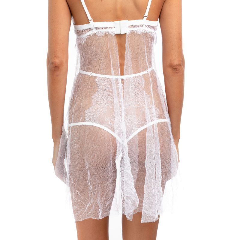 Emancipation Chantilly Lace Sheer Crinkle Tulle Nightie image