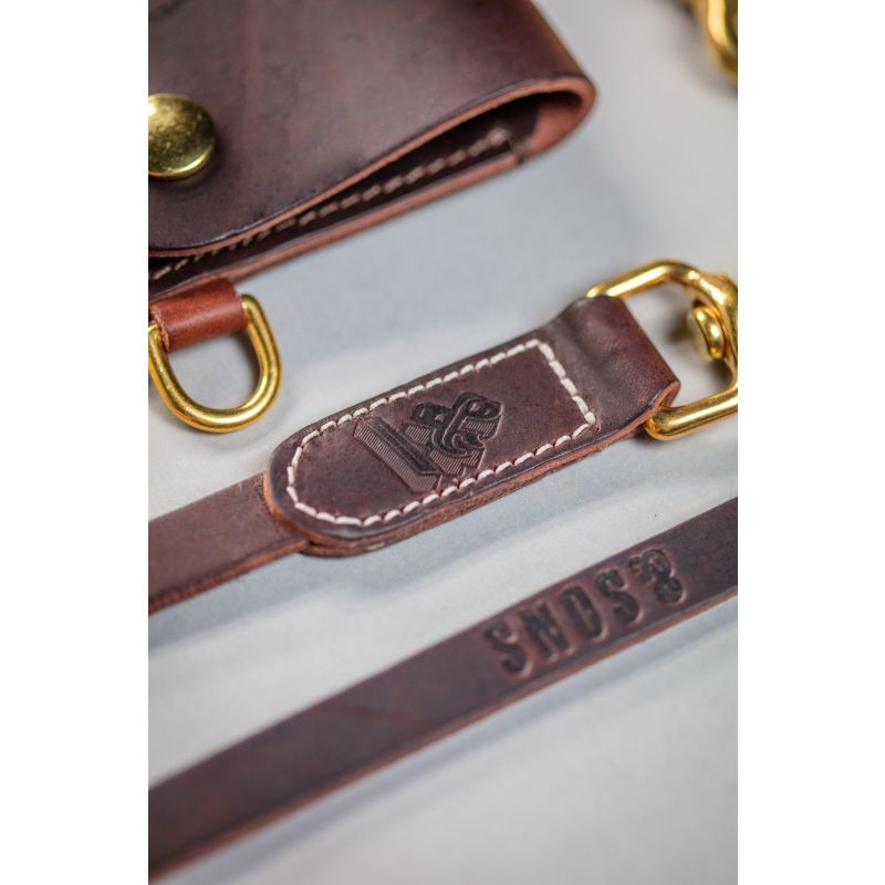 &Sons Brown Leather Lanyard image