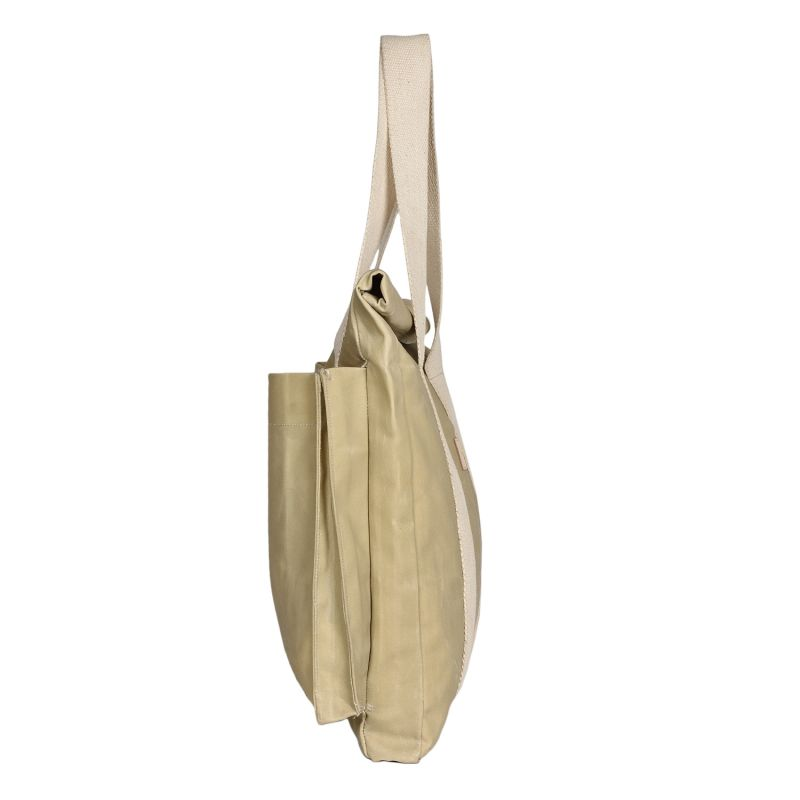 The Basto Tote Bag - Bone White Waxed Canvas image