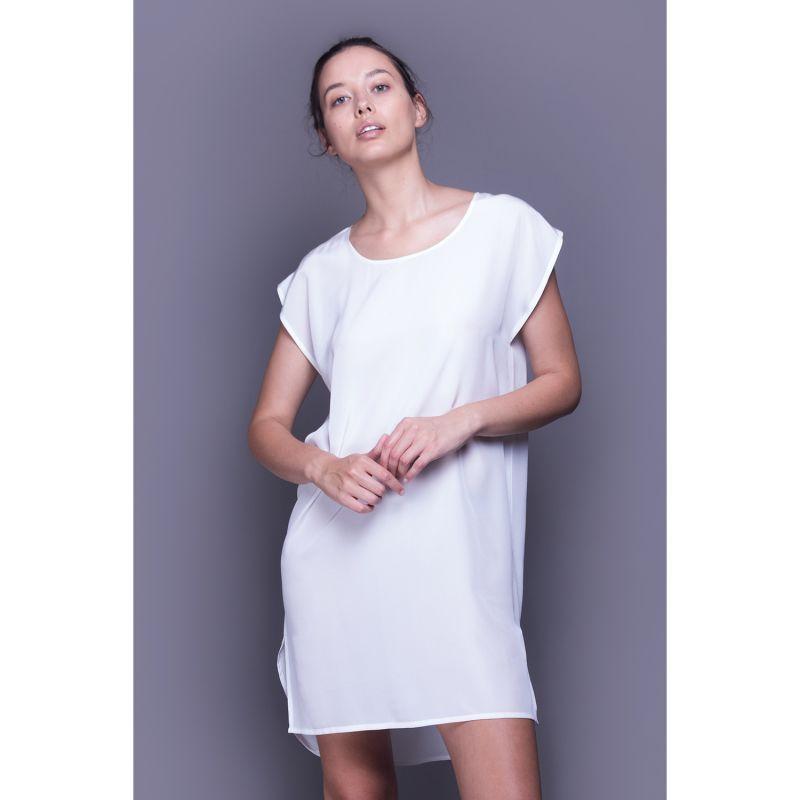 Silk Nightshirt - Cream image