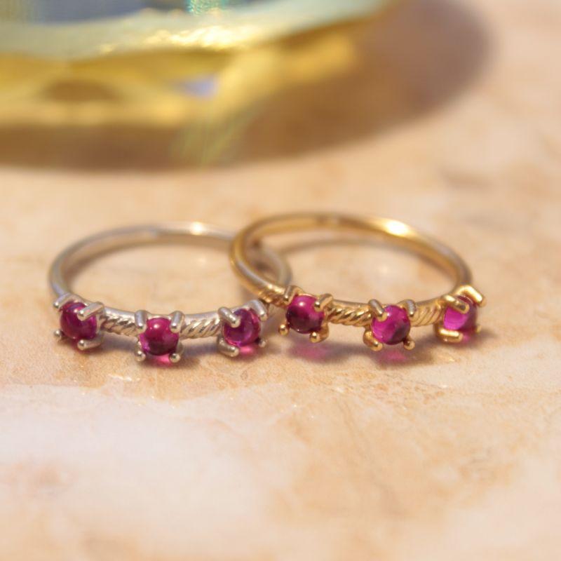 Estatira Tria Pink Glass Ring image