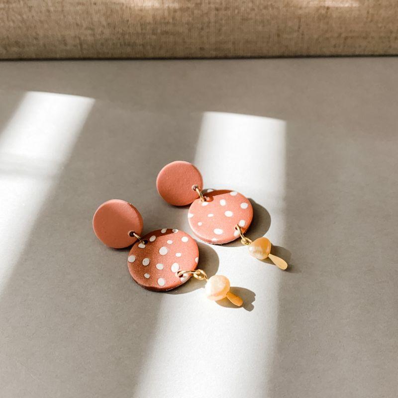 Polka Dot Pearl Earrings image