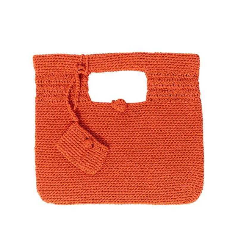 Santorini Crochet Bag in Orange image
