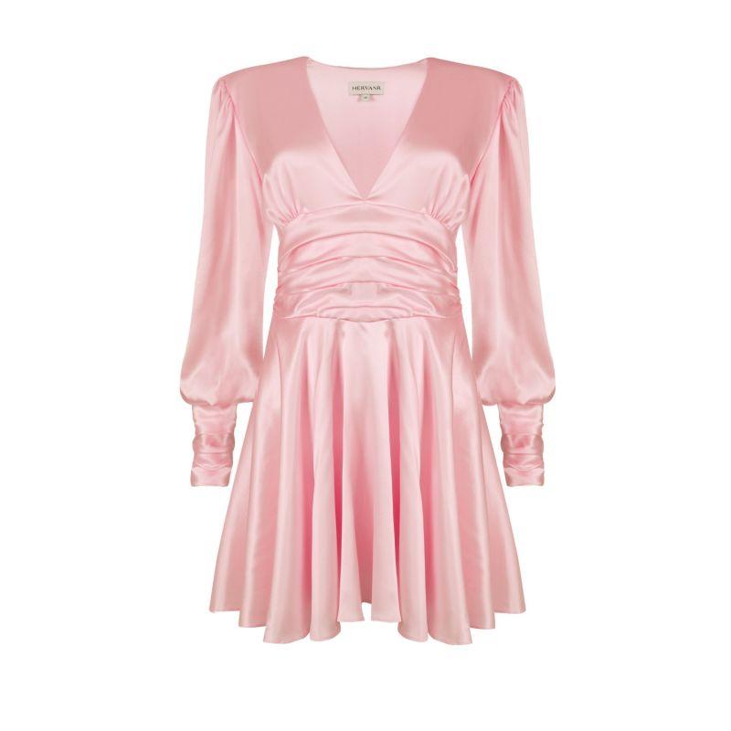 Maya Silk Mini Dress - Dusky Pink image