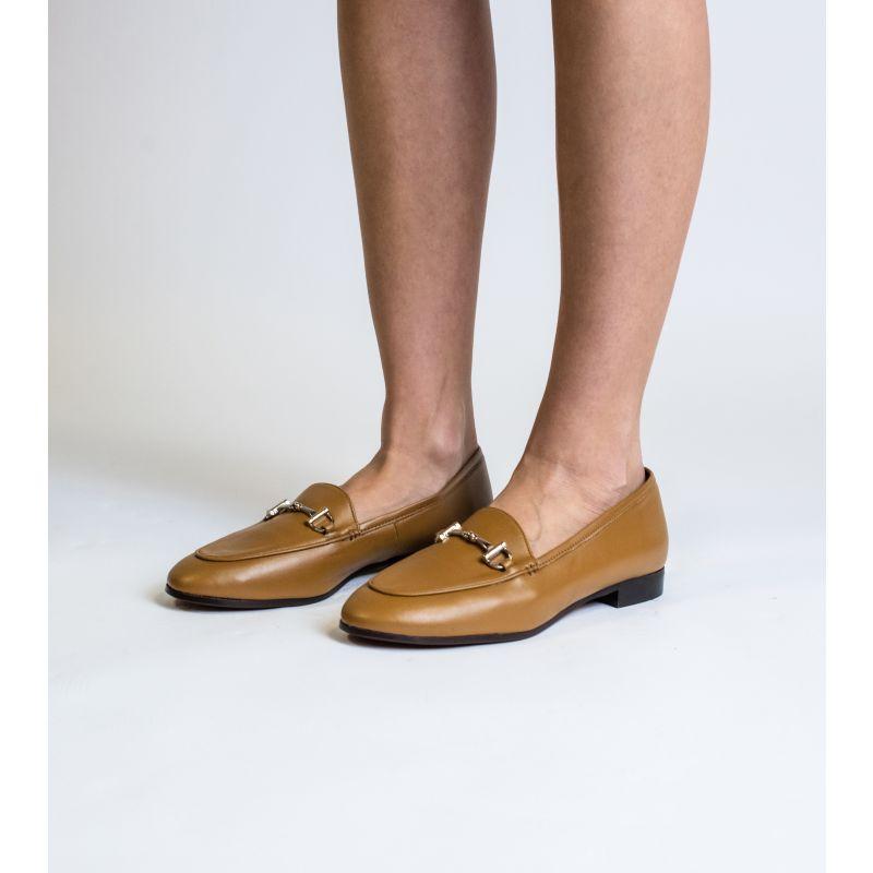 Jessica Camel Vegan Leather Snaffle Loafer image