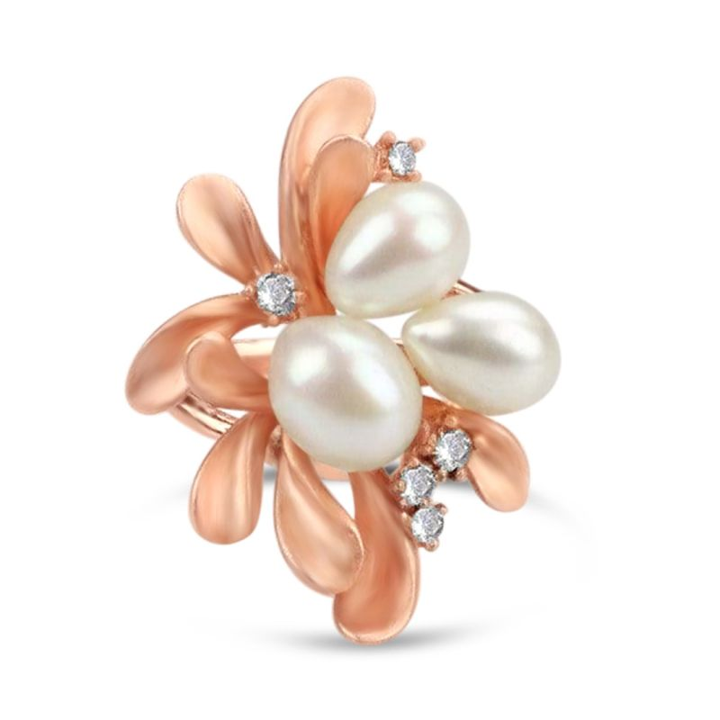 Gold Plated Freshwater Pearl Ring image
