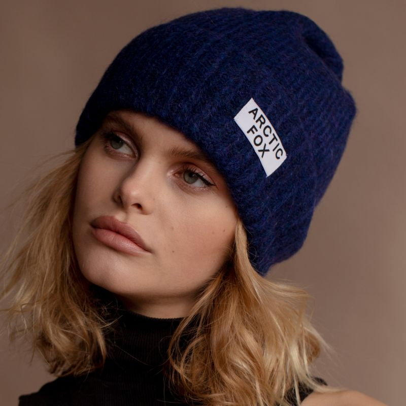 The Mohair Beanie In Tokyo Navy image