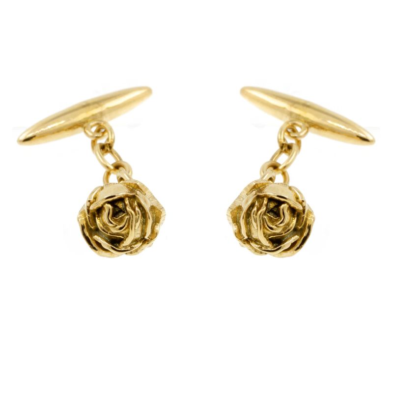 Rose Cufflinks Gold image