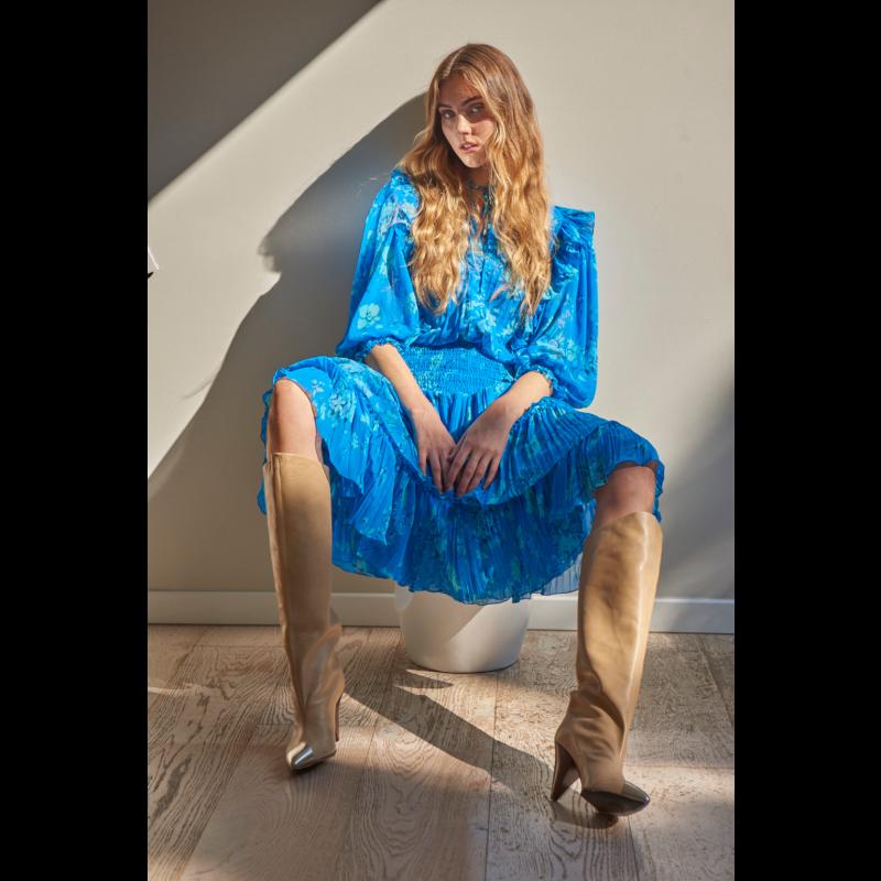 Steller Ruffle Skirt In Malibu Blue image