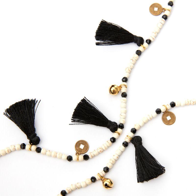 Black Tassel Necklace image