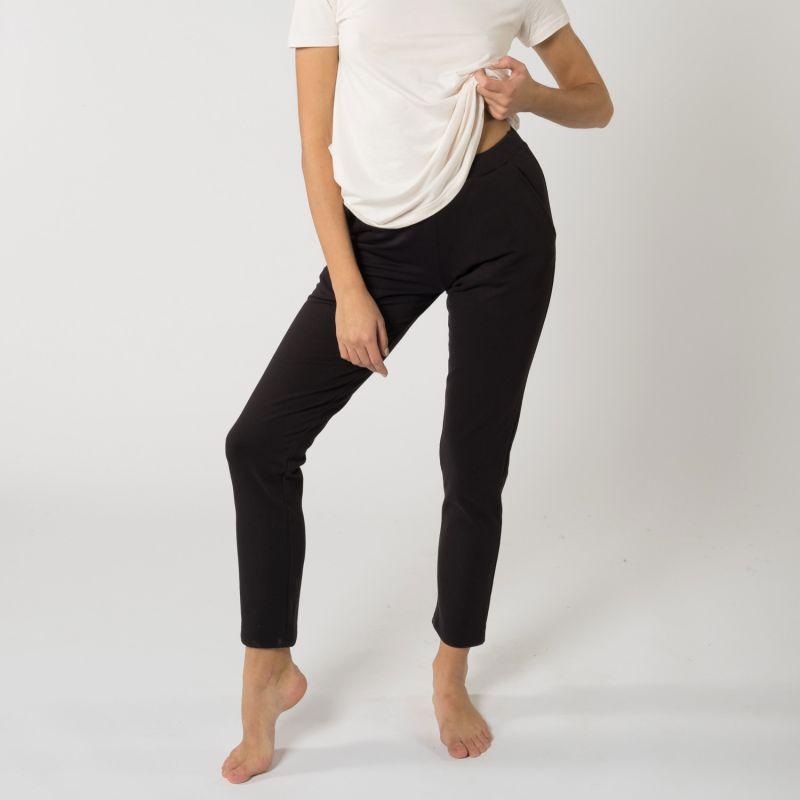 Classic Soft & Comfortable Fit Fleece Sweatpants For Touches - Black image